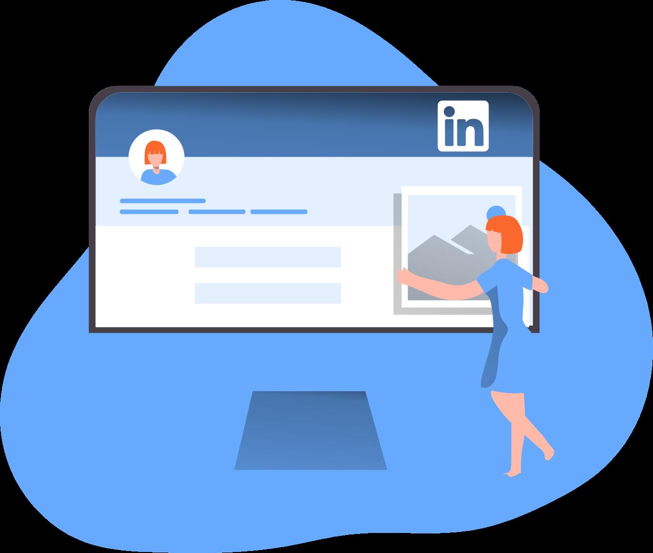 Image for part: Check your LinkedIn portfolio.