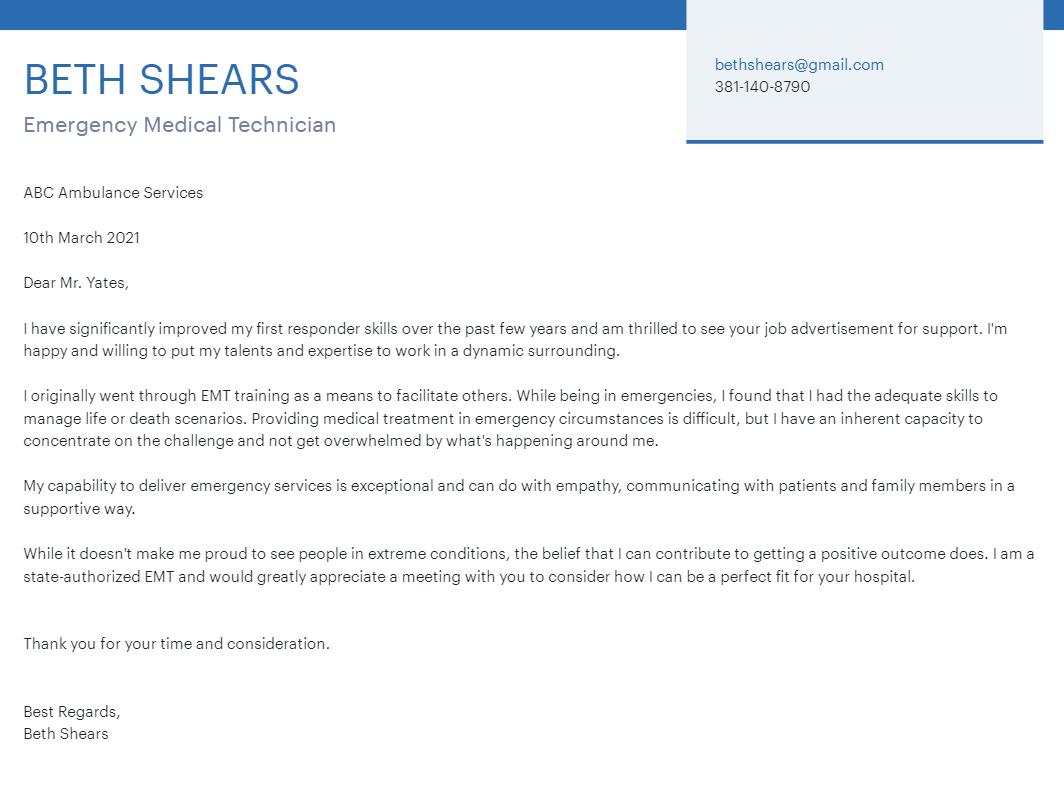 Image for part: EMT relevantskillsfor the cover letter and resume