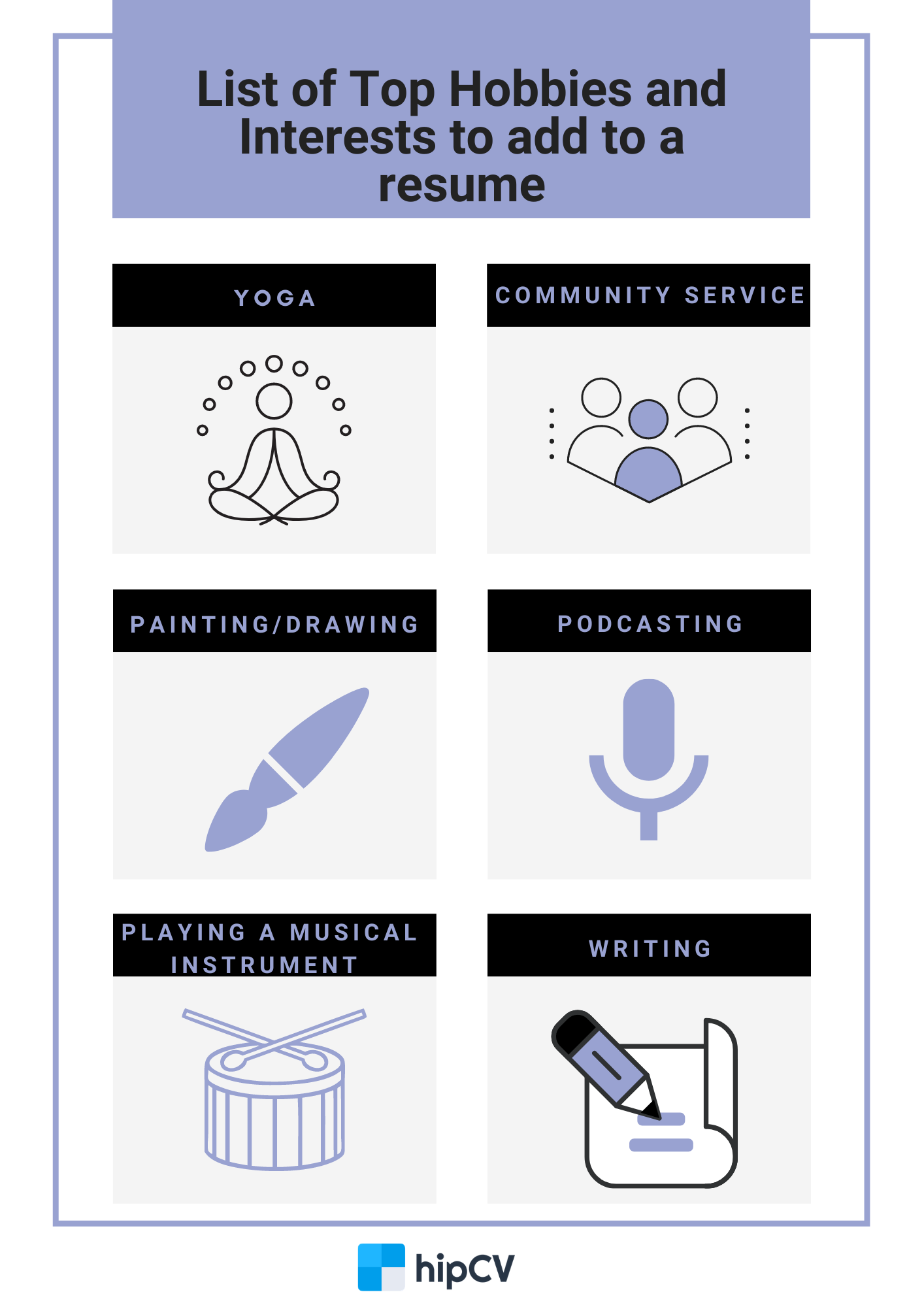 Image for part: Listing hobbies and interests on a resume
