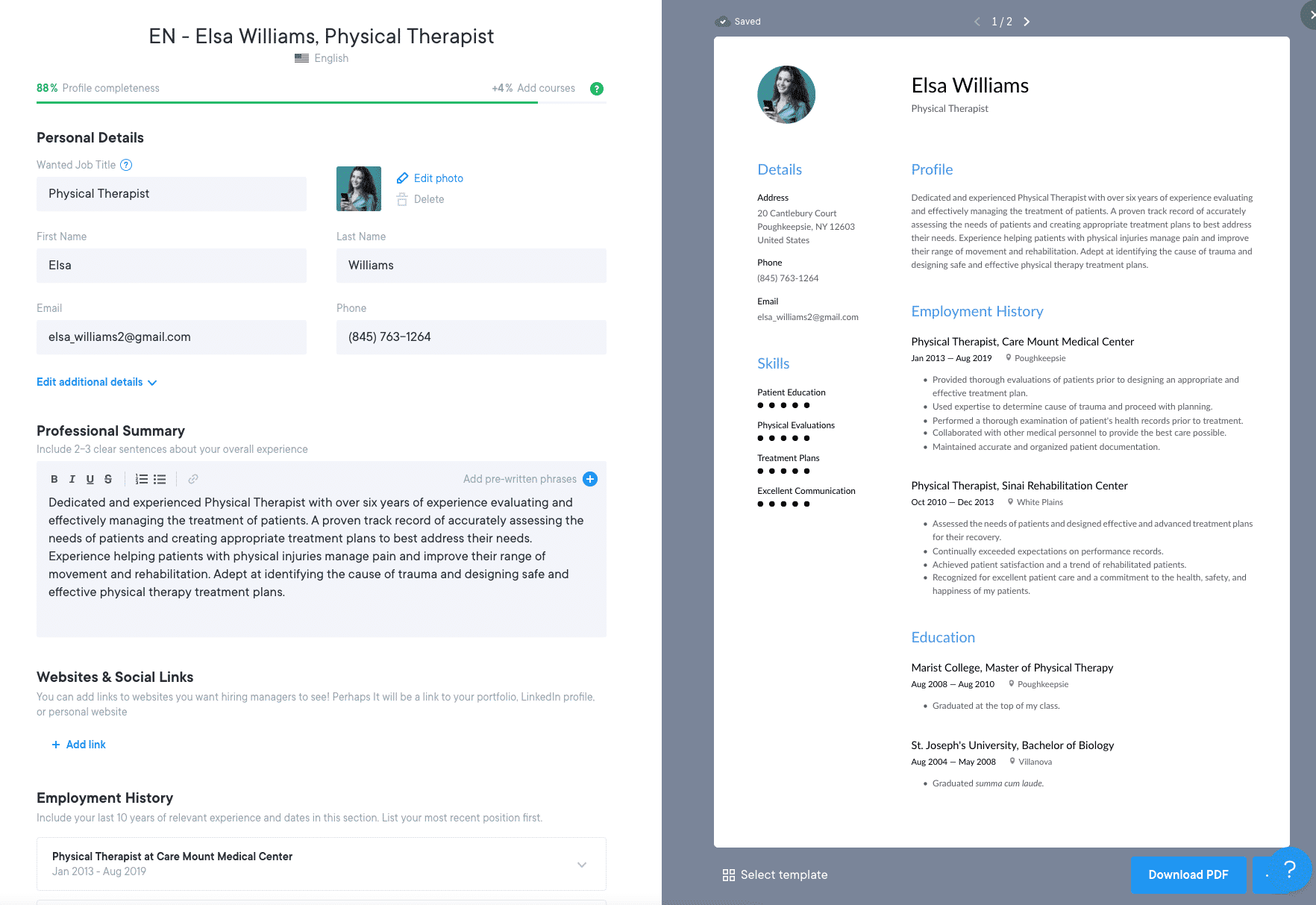 Image for part: Resume.io